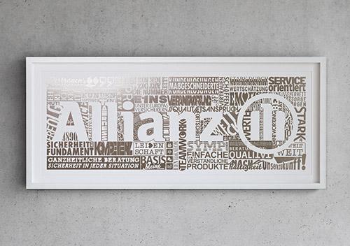Allianz Heissfolienprägung